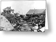 Galveston Flood Debris - September - 1900 Greeting Card by International  Images