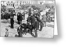 Galway Ireland - The Market At Eyre Square - C 1901 Greeting Card