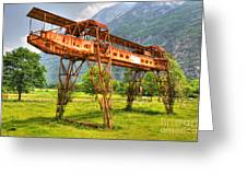 Gantry Crane Greeting Card