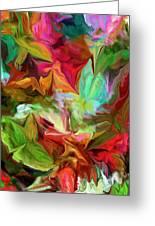 Garden Abstract 072312 Greeting Card