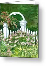 Garden Circle Gate Greeting Card