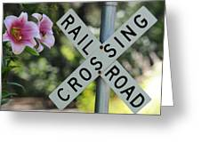 Garden Crossing Greeting Card
