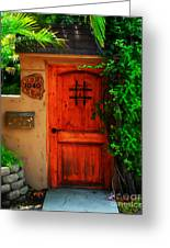 Garden Doorway Greeting Card by Perry Webster