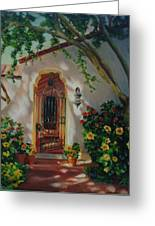Garden Entry  Greeting Card