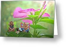 Garden Fairy Friends Greeting Card