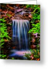 Garden Falls Fractalized Greeting Card