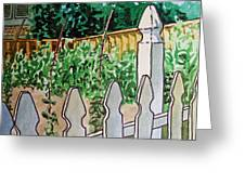 Garden Fence Sketchbook Project Down My Street Greeting Card
