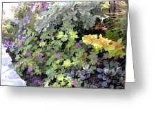 Garden Flower Border Greeting Card