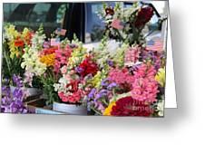 Garden Flower Stand Greeting Card