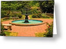 Garden Fountain 03 Greeting Card