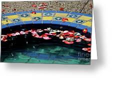 Garden Fountain Greeting Card