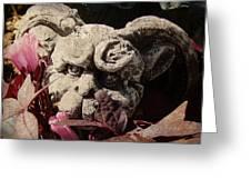 Garden Gargoyle Greeting Card