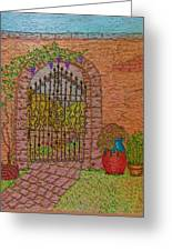 Garden Gate Greeting Card
