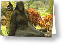 Garden Of Statues Egypt Greeting Card
