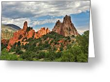 Garden Of The Gods - Colorado Springs Co Greeting Card by Christine Till