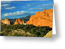Garden Of The Gods Front Side View Greeting Card