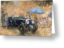 Garden Party With The Bentley Greeting Card