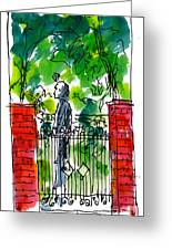 Garden Philadelphia Greeting Card by Marilyn MacGregor