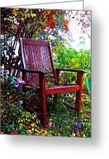 Garden Seating Greeting Card