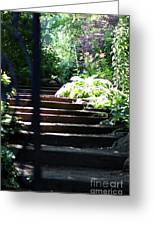 Garden Stairs Greeting Card