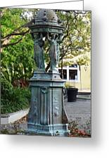 Garden Statuary In The French Quarter Greeting Card