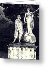 Garden Statue At Villa Capri Greeting Card