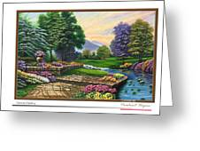 Garden View 2 Greeting Card
