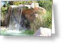 Garden Waterfall Greeting Card