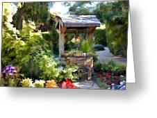 Garden Wishing Well Greeting Card