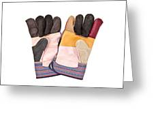 Gardening Gloves Greeting Card by Tom Gowanlock