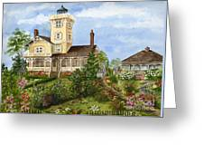 Gardens At Hereford Inlet Lighthouse  Greeting Card