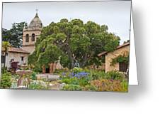 Gardens Of Carmel Mission Greeting Card