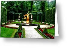 Gardens Of Linderhof Castle II Greeting Card