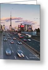 Gardiner Expressway Toronto Greeting Card