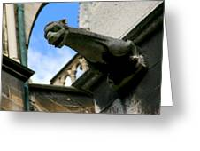 Gargoyle Of Saint Denis Greeting Card