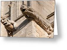 Gargoyles On Ely Cathedral Greeting Card