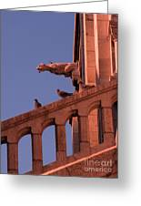 Gargoyles On Sacre-couer Greeting Card