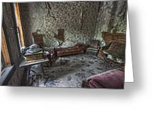 Garnet Ghost Town Hotel Parlor - Montana Greeting Card