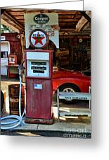 Gas Pump - Texaco Gas Globe Greeting Card