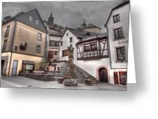 Gasthaus And Church-colour Greeting Card