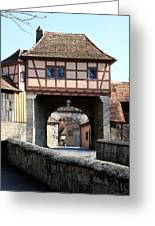 Gate House - Rothenburg Greeting Card