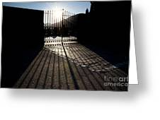 Gate In Backlight Greeting Card