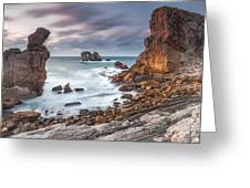 Gate In The Ocean Greeting Card by Evgeni Dinev