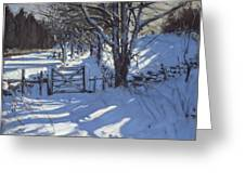 Gate Near Youlgreave Derbyshire Greeting Card