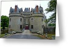 Gate To Chateau De La Bretesche Greeting Card