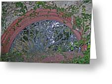 Gate To The Courtyard Greeting Card
