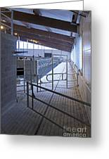 Gated Railing In A Cowshed Greeting Card