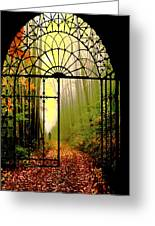 Gates Of Autumn Greeting Card