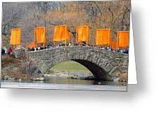 Gates Over Gapstow Bridge  Greeting Card by Frank Winters
