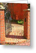 Gateway To A Garden Greeting Card